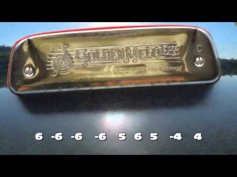 Shenandoah with diatonic harmonica tabs - YouTube