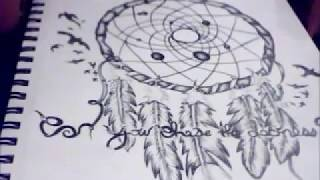 Drawing a dream catcher