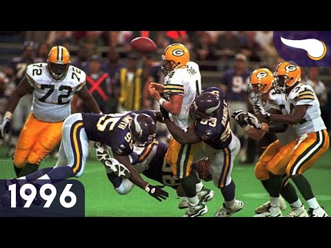 Favre & Moon Duel in the Dome - Packers vs. Vikings (Week 4, 1996) Classic Highlights |