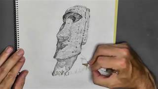 Gambar cover Drawing of Moai (took 1 hour 8 minutes)