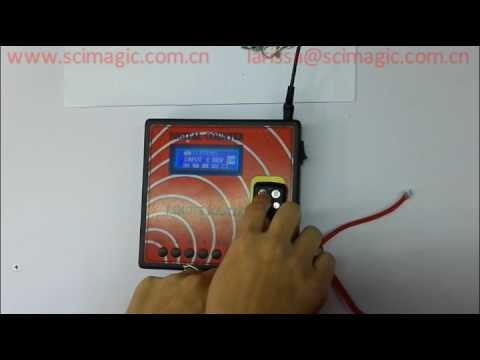 How to program the remote control copy machine SMG-3002