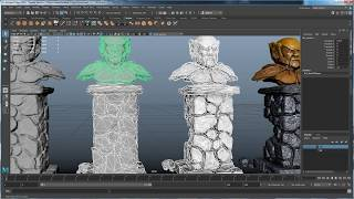 ART 156: High Res game object- Pt 4:  Baking Normal and AO maps with Turtle