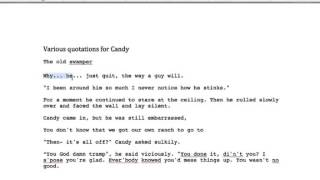 of mice and men candy quote
