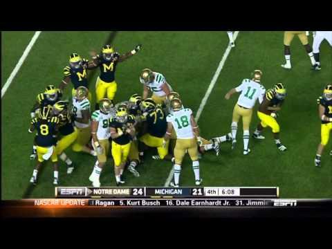 2011 Michigan highlights v. Notre Dame (HD)