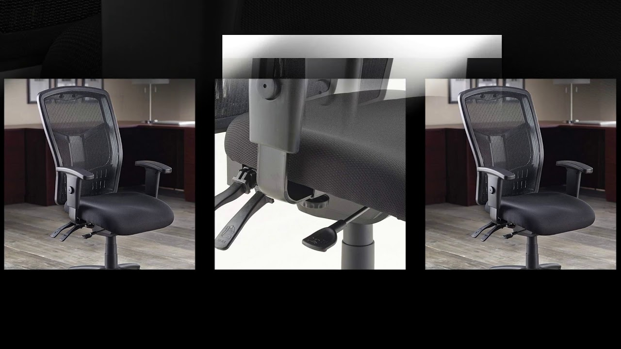 lorell executive high back chair mesh fabric youtube
