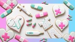 COOKIES FOR NURSES! Cookie Decorating Tutorial