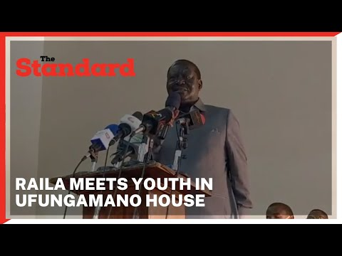 Raila Odinga meets youth group representatives Meru,Tharaka Nithi and Embu at Ufungamano House