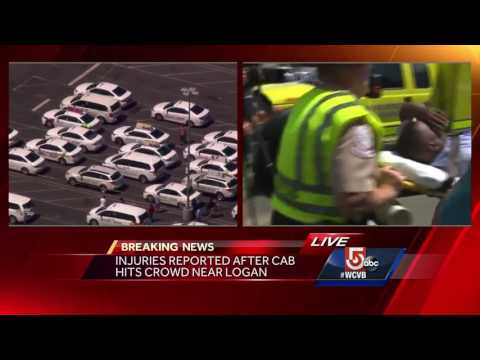 Taxi hits crowd of people in East Boston