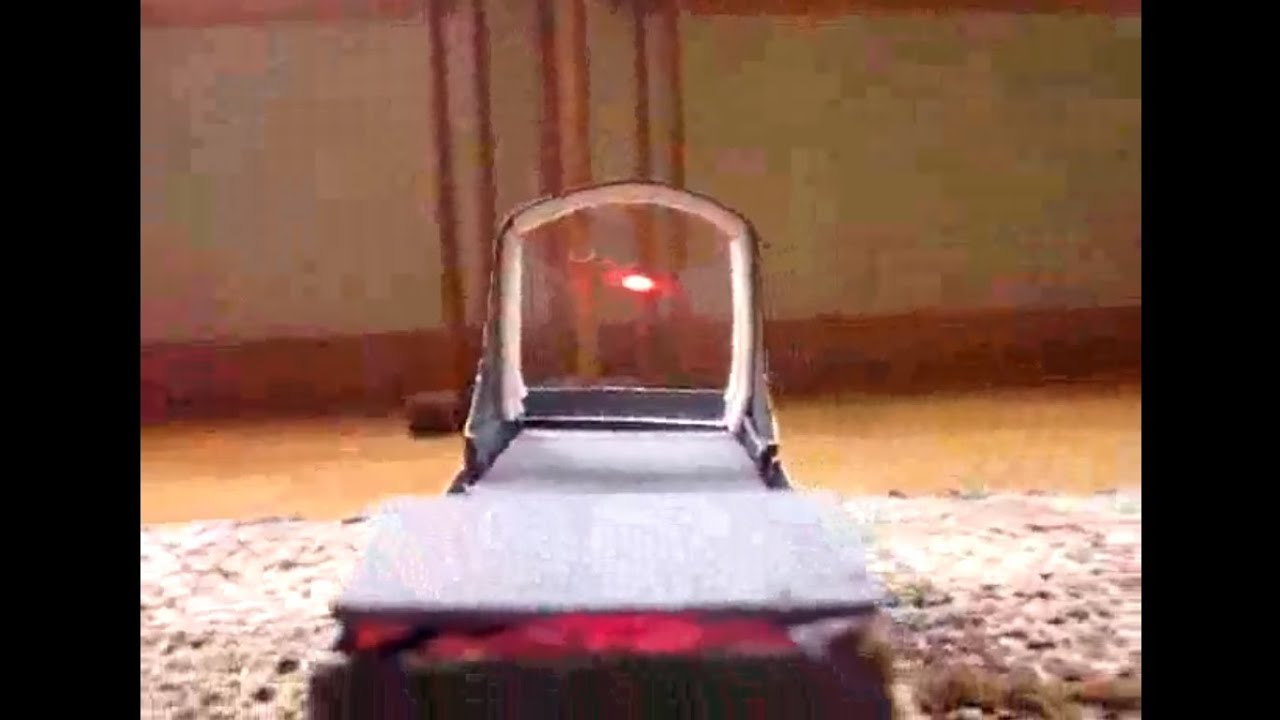 How To Make A Red Dot Sight Reflex Sight Youtube