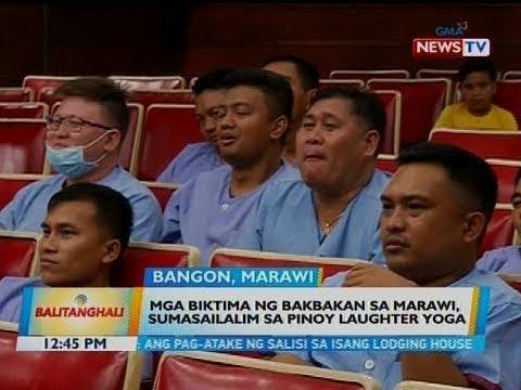 BT: Mga biktima ng bakbakan sa Marawi, sumasailalim sa Pinoy laughter yoga