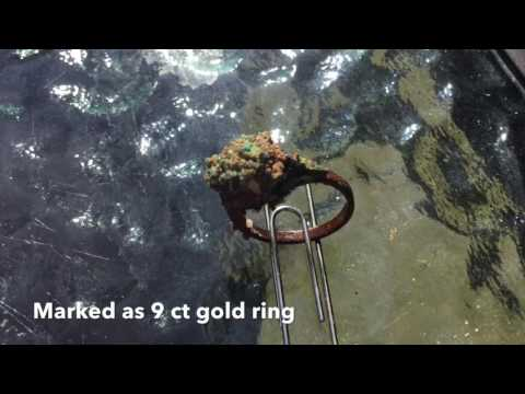 LJR#31 Underwater Metal Detecting Antique Gold & Silver Rings