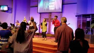 Praise and worship at the Ark fellowship