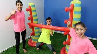 Inflatable Limbo Challenge with HZHtube Kids Fun