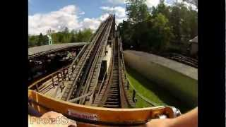 Phoenix Pov Hd Knoebels Amusement Resort Roller Coaster Front Seat Onride Gopro Hd Video
