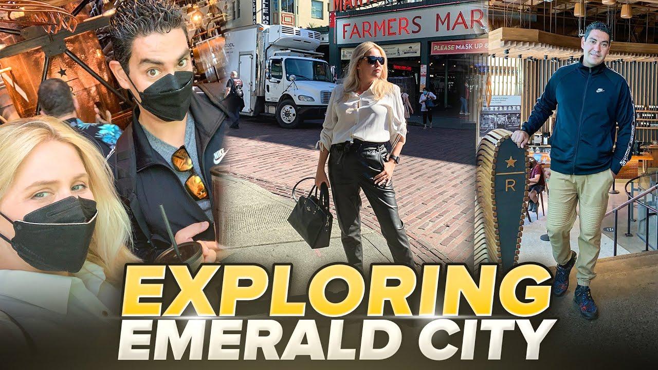 Seattle vlog 2021. Travelling to Seattle, Part 3 : Starbucks Reserve, Public Market Center