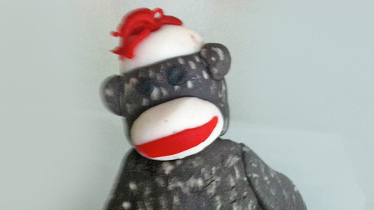 Baking Accs. & Cake Decorating Sock Monkey Girl {pink} Edible Cupcake Toppers Decoration
