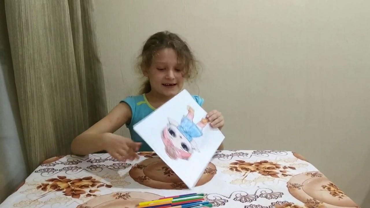 Раскраска куклы ЛОЛ. Кукла LOL. #куклылол #LOL #раскраска ...