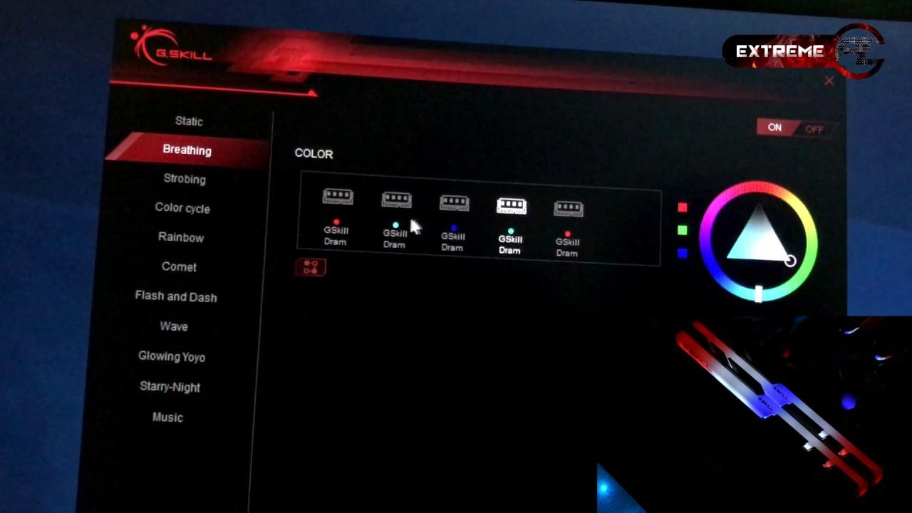g skill trident z rgb Set LED
