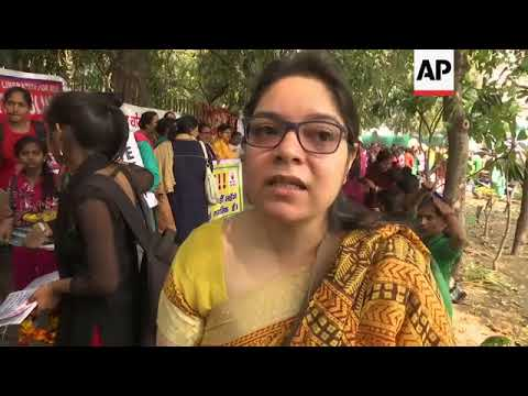 Women's Day protest over sexual violence and discrimination in New Delhi