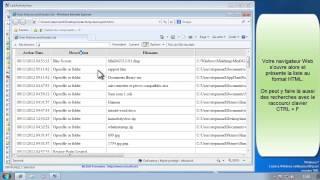 Voir l'historique des activités utilisateur sur PC (consultation dossier, installations...)