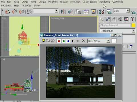 3d Max Mental ray exterior light & render setup tutorial