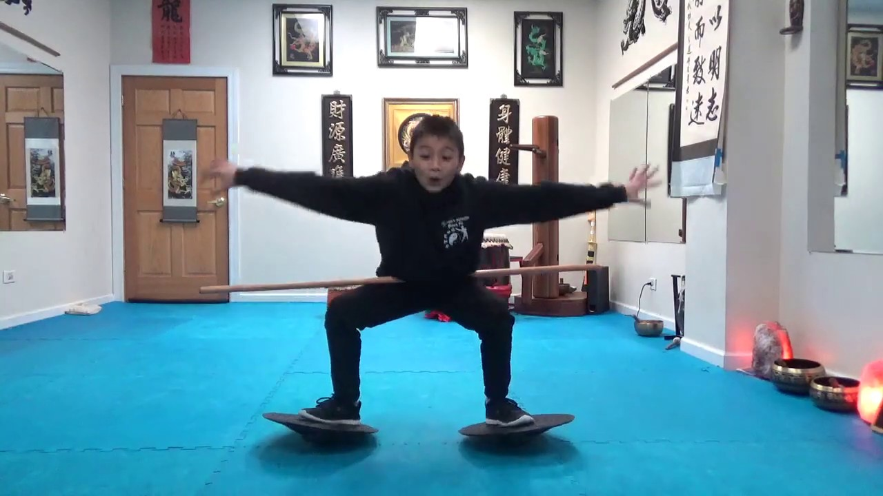 Double Balance Disc Horse Stance Fitness Challenge