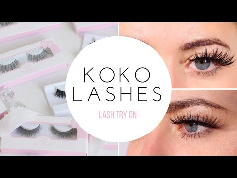 b3e4bdc6512 KOKO LASHES TRY ON: QUEEN B, GODDESS & AMORE - YouTube