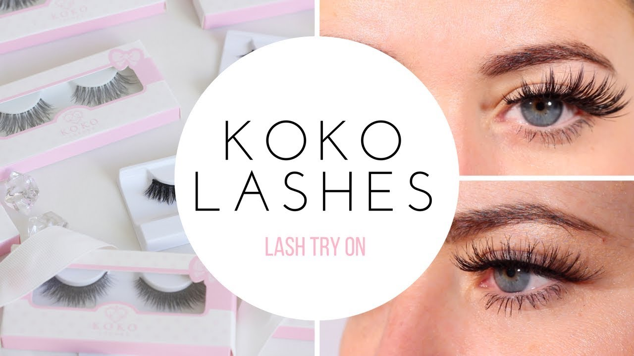 313381a39a7 KOKO LASHES TRY ON: QUEEN B, GODDESS & AMORE - YouTube