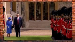 Конфуз на встрече Дональда Трампа с королевой Елизаветой Второй