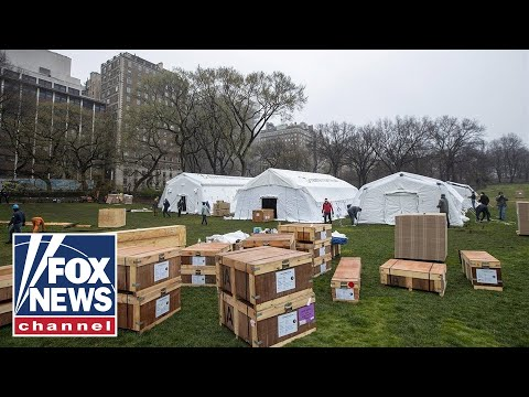 Central Park Converted To Field Hospital For Coronavirus Patients