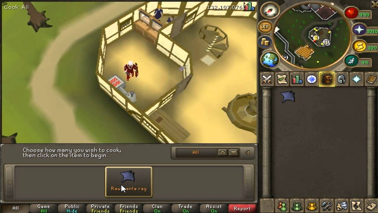 Runescape How to Cook Manta Rays