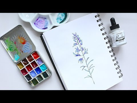 Lavender Illustration | Watercolour Tutorial!