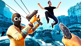 JUMPING ZOMBIES EAT OUR BRAINS in Arizona Sunshine VR!