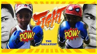 DTOWN BOXING GLOVES REVIEW | PRETEND PLAY