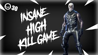 Fortnite Insane 30 Kill Game! Solo 20v20 V2! Personal Kill Record!