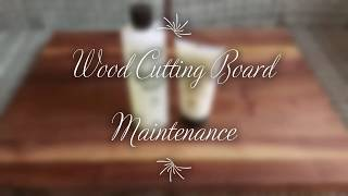 How to maintain a Boos Block or other Wood Cutting Boards
