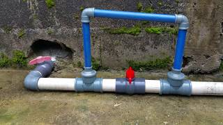 HOW TO BUILD A FISH POND WITH A STANDARD DISCHARGE AND OVERFLOW PIPE CONNECTIONS 2018