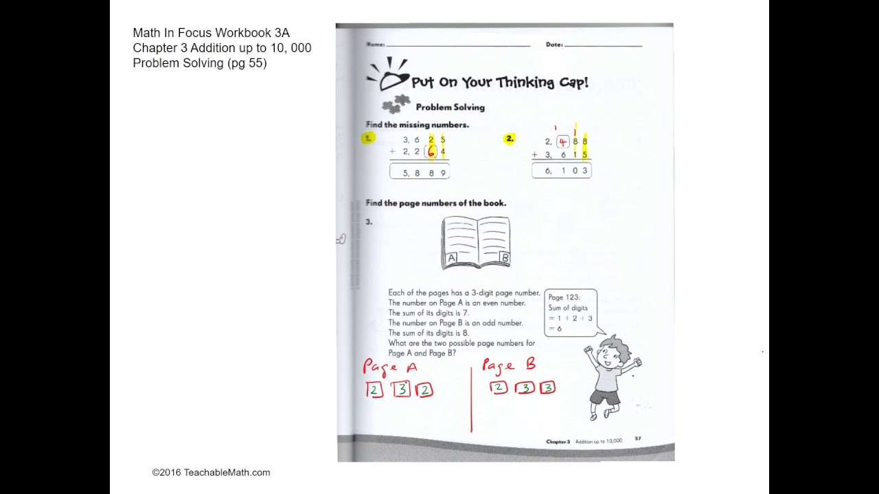 MIF Workbook 3A solutions chapter 3 Addition up to 10,000 Problem ...