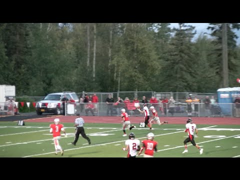 Adam Empson Intercepts and Scores on the Fly, Alaska Football