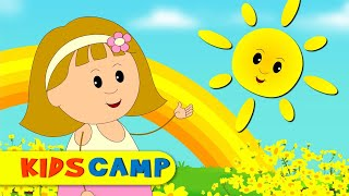Yellow Song | Nursery Rhymes | Learn Colors with Elly & Eva | Original Song By Kidscamp