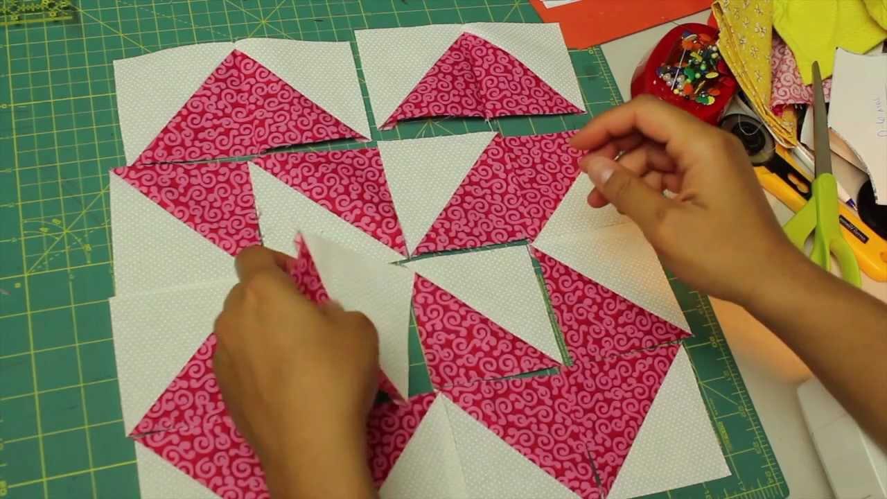 Como hacer cuadrado de patchwork block 7 youtube - Como hacer pachwork ...