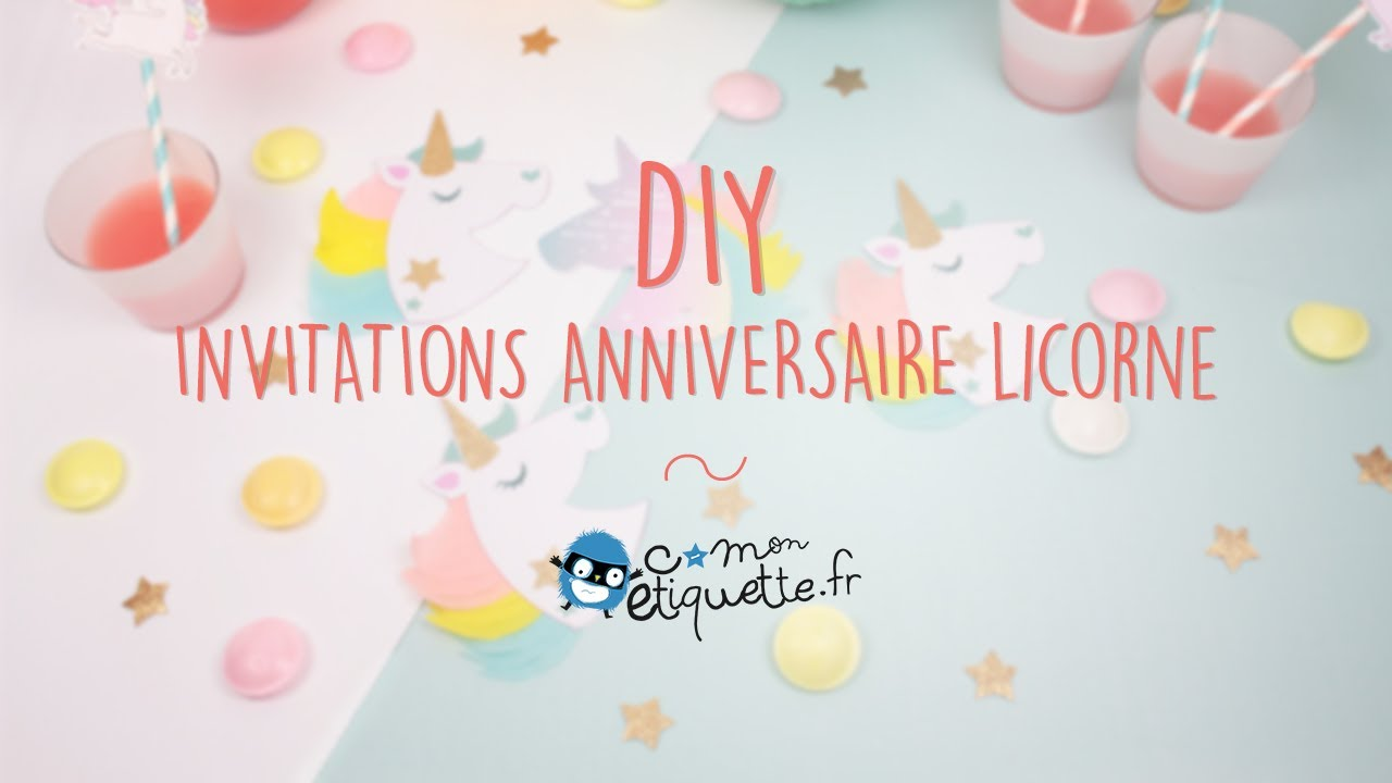Atelier Invitations Licornes L C Monetiquette