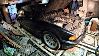 BMW E38 750i нашли в гараже ! 7 лет без движения