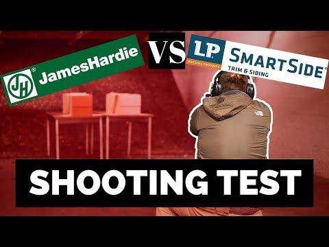 James Hardie® Siding VS LP® Smartside® Siding 9MM Shooting (bullet) Test