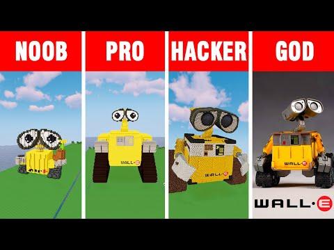 Minecraft NOOB vs PRO vs HACKER vs GOD: WALL-E BUILD CHALLENGE in Minecraft / Funny Animation