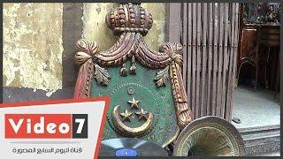 """شعار""""عاش جلالة الملك فؤاد الأول """" من قصور الباشوات لهواة الأنتيكات .. والسعر 5 ألاف جنيه"""