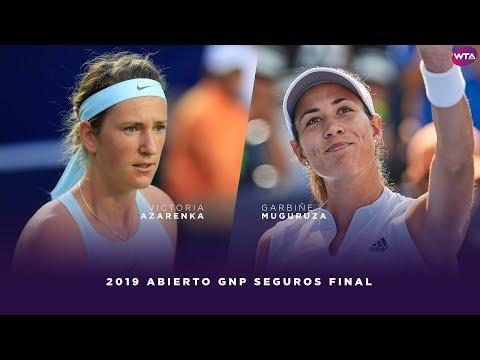 Victoria Azarenka vs. Garbiñe Muguruza | 2019 Monterrey Open Final | WTA Highlights