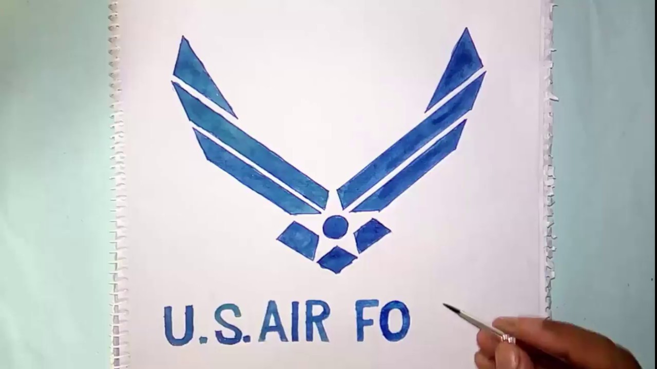how to draw the u s air force symbol symbol drawing youtube