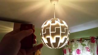 remote controlled ikea death star lamp