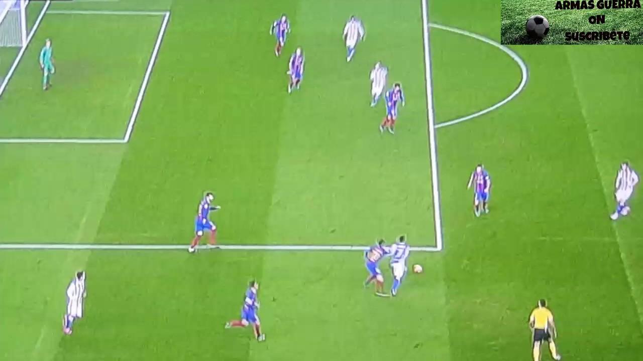 Real Sociedad 1 vs FC Barcelona 1 Gol de Juanmi anulado ...